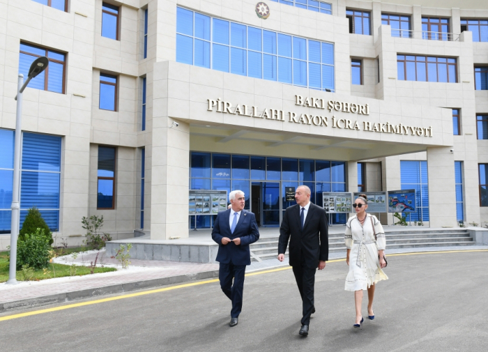 President Ilham Aliyev attends several openings in Pirallahi district - PHOTOS,UPDATED