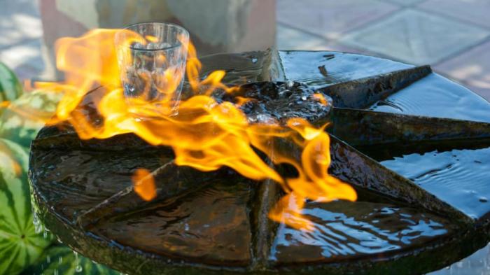 Azerbaijan's Lankaran where water burns like fire
