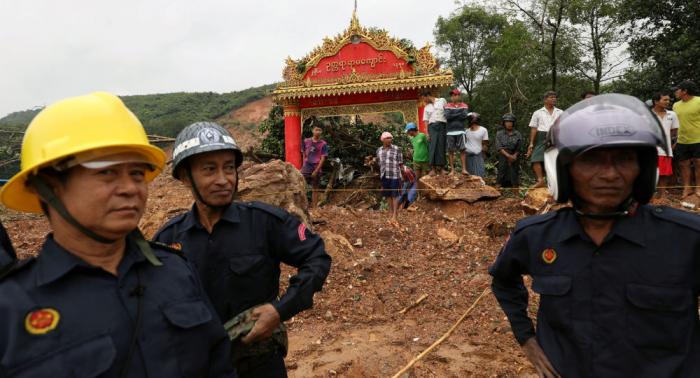 Aumenta el número de fallecidos por deslizamiento en Birmania