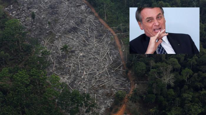 Brazil's Bolsonaro dismisses worries over Amazon deforestation