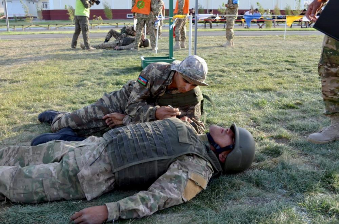 """Azerbaijani military doctors took part in another stage of the """"Military Medical Relay Race"""" contest"""