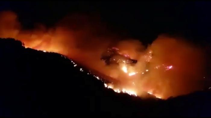 VIDEO:   Evacúan a más de mil personas por un feroz incendio forestal en Gran Canaria