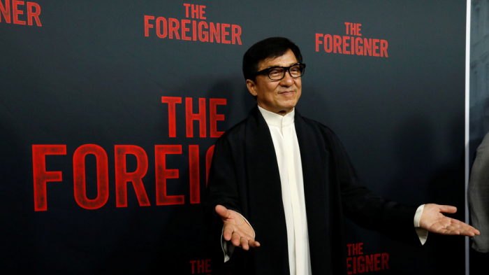 Hong Kong native Jackie Chan takes part in pro-Beijing campaign to protect national flag