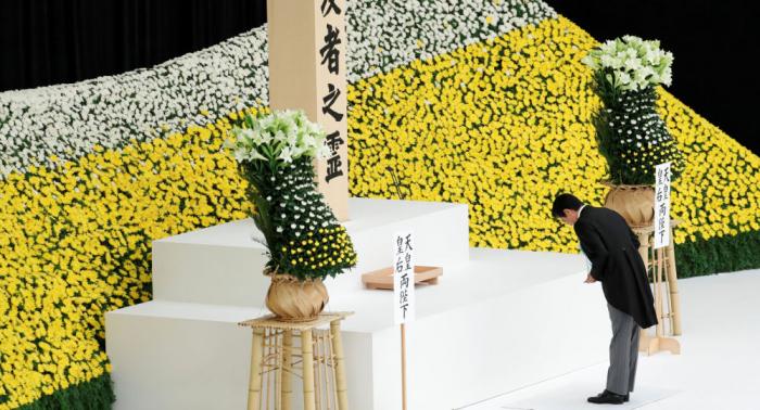 Japón conmemora el 74 aniversario de su rendición en la II Guerra Mundial