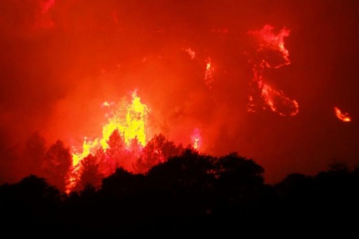 Strong winds fan fierce wildfire in southern France