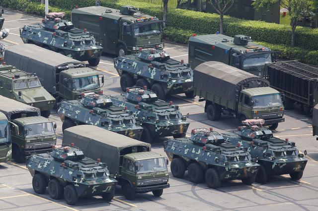 China - Haben Option zum gewaltsamen Eingreifen in Hongkong