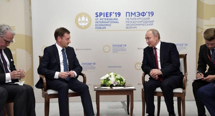 """Sachsens Ministerpräsident: """"Wir wollen Nord Stream 2, wir wollen den Abbau der Sanktionen"""""""