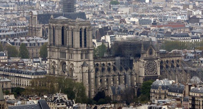 Se reanudan las obras de fortalecimiento de la estructura de Notre Dame