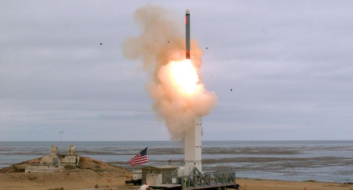 Durch INF-Vertrag verboten: Pentagon zeigt Start von Marschflugkörper –   Video