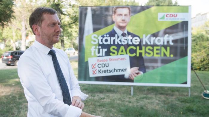 CDU in Sachsen knapp vor AfD