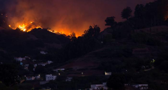 Declaran alerta máxima por riesgo de incendios en cinco islas Canarias