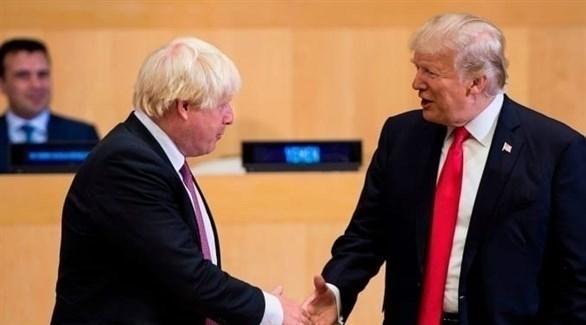 جونسون يحض ترامب على إزالة العوائق الأمريكية من أمام الشركات البريطانية