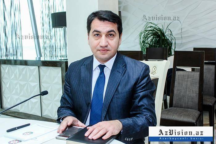 """Hikmət Hacıyev: """"Paşinyan özü-özünü inkar edir"""""""