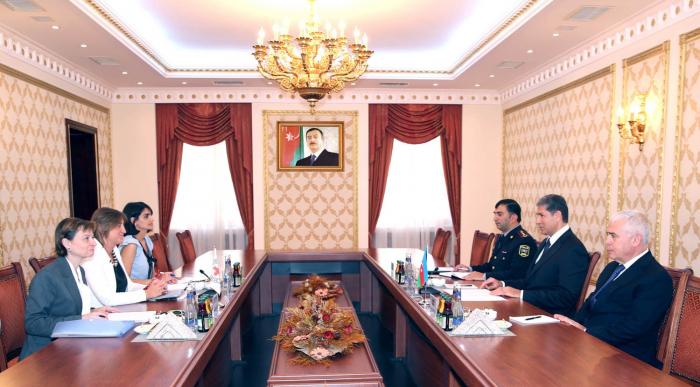 Vilayət Eyvazov BQXK-nın rəsmisini qəbul edib