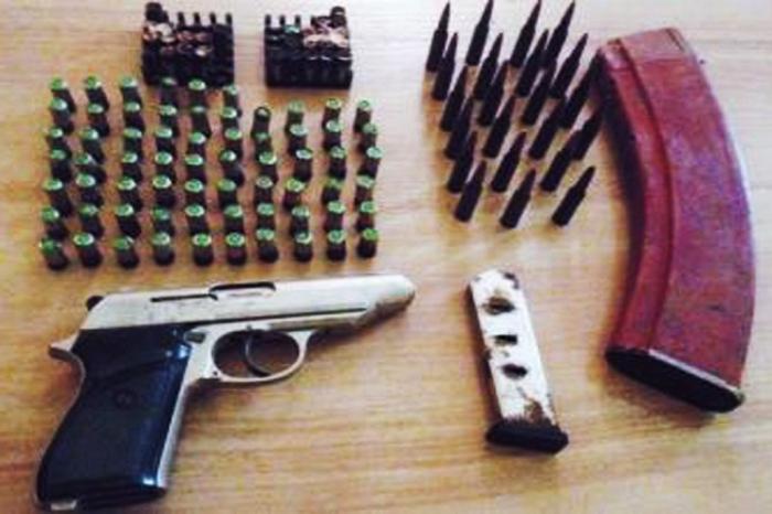 Ağstafada silah-sursat tapılıb