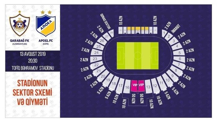 """""""Qarabağ"""" - APOEL oyununa 15 min bilet satılıb"""