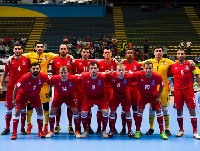 Aserbaidschanische Nationalmannschaft spielt ein Freundschaftsspiel mit Belarus