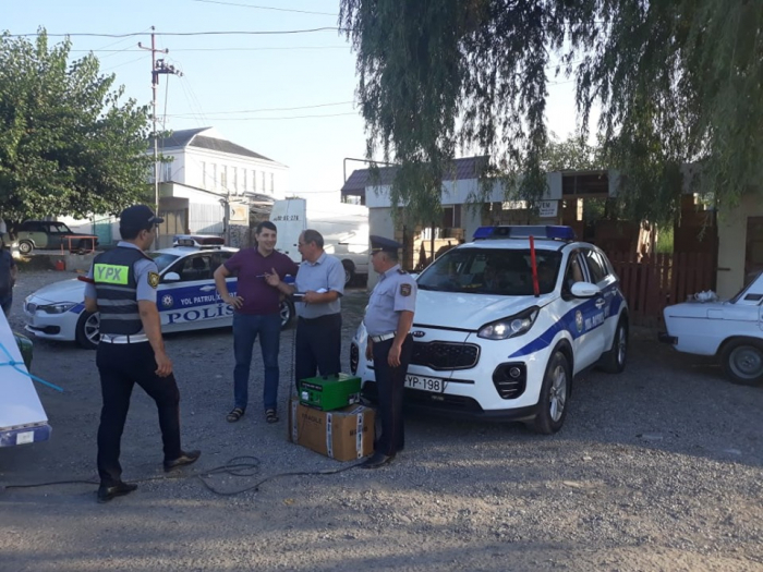 Yol polisi Qubada reyd keçirdi - FOTOLAR