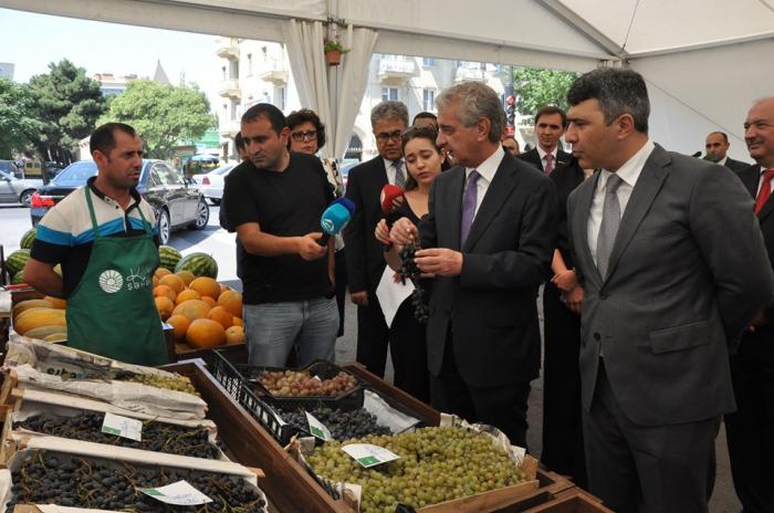 """Əli Əhmədov və İnam Kərimov """"Yaşıl Bazar""""da - FOTOLAR"""