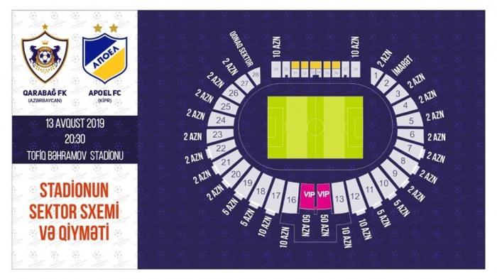 """""""Qarabağ"""" - APOEL matçına 8 min bilet satılıb"""