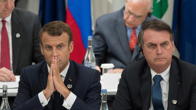 Macron accuse Bolsonaro d