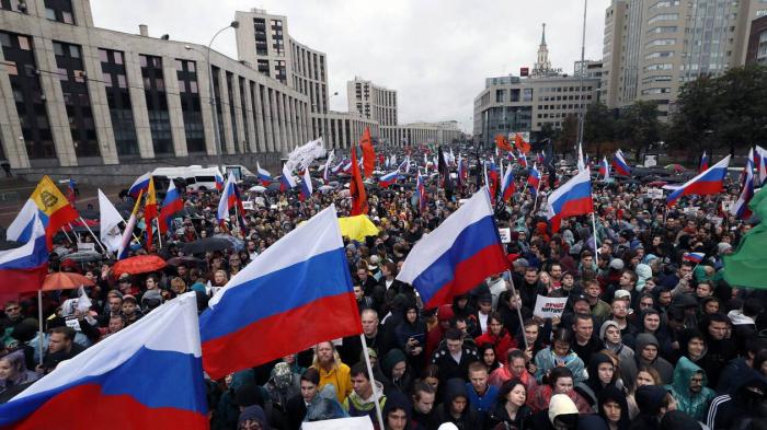 Russie:   40.000 manifestants à Moscou pour réclamer des élections libres