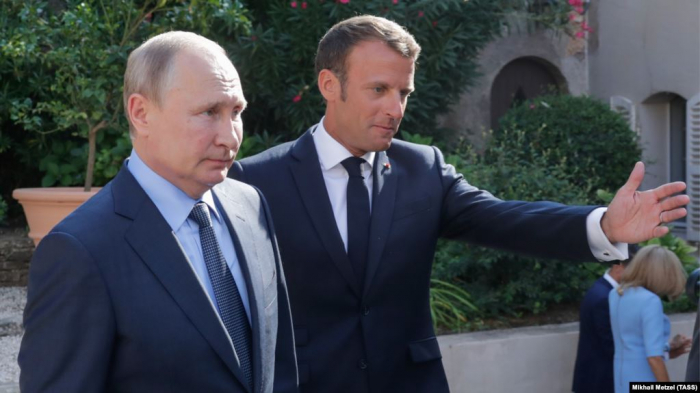 Putin, Macron discuss peace prospects for Ukraine, Syria