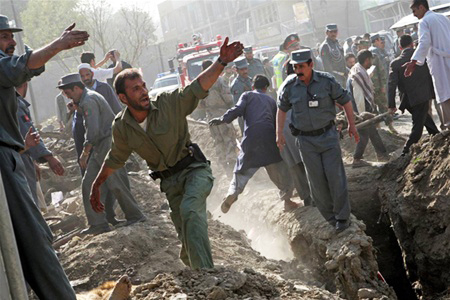 At least two killed in Afghan TV bus bombing in Kabul