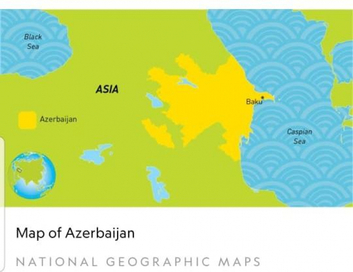 Distorted Azerbaijani map corrected on website of National Geographic