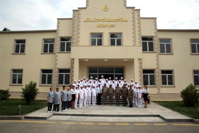 Cəbhədə yeni hərbi hospitalın açılışı olub - Fotolar
