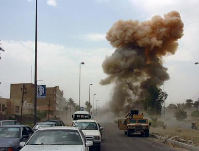 Huge explosion hits ammunition depot near military air base in Iraq