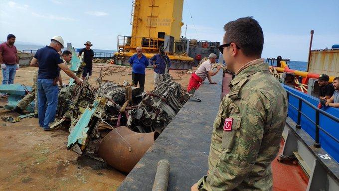 """تم العثور على بعض أجزاء من طائرة """"ميغ - 29"""" -   صور"""