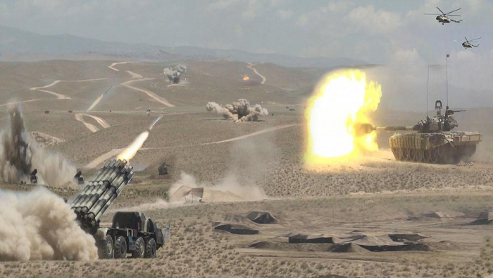 Command and Staff Exercises of Nakhchivan garrison troops ended