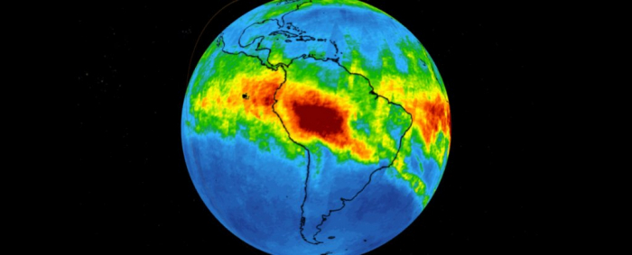NASA Images  show just how much carbon monoxide is coming off burning Amazon