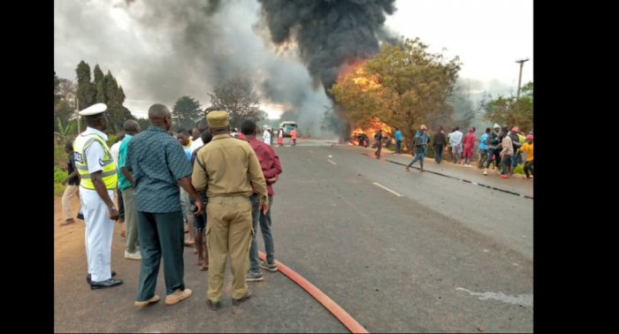 Fuel tanker explodes in Tanzania, at least   61   killed