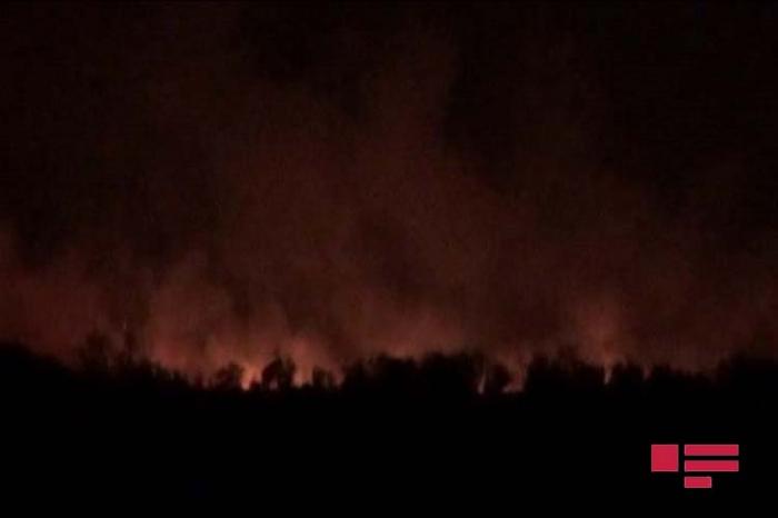 الأرمن يحرقون قرية أغدام