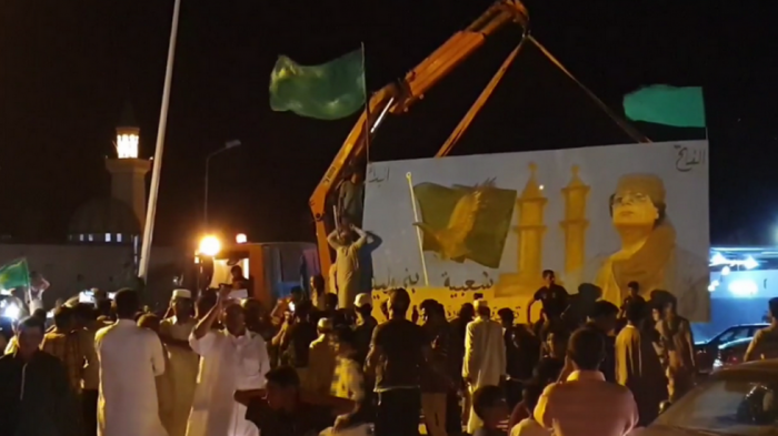 Gaddafi supporters flock to streets to mark 50th anniversary of September revolution-    VIDEO