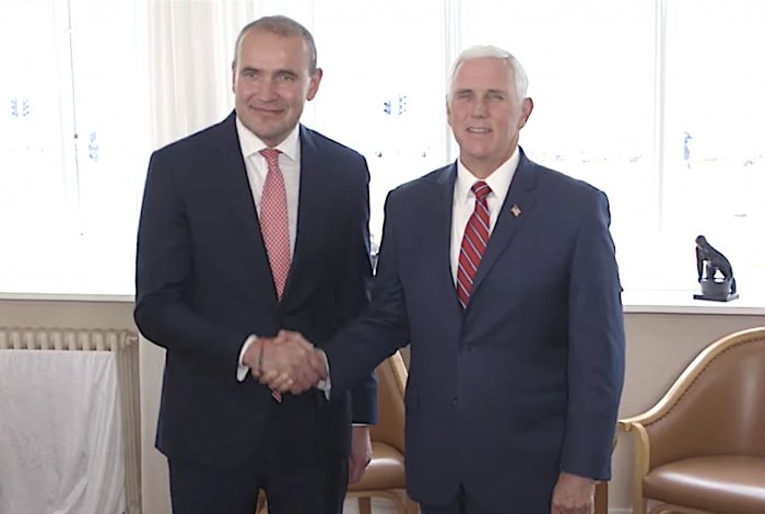 Iceland president wears rainbow bracelet for meeting with Mike Pence