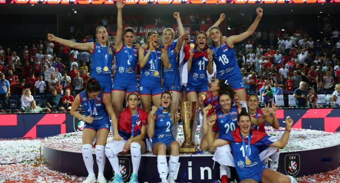 Serbien siegt gegen Türkei: Serbische Volleyballerinnen werden wieder Europameister