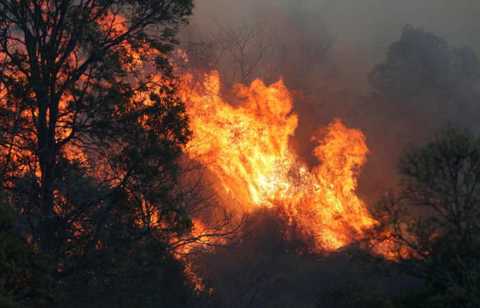 Heavy winds fan Australian bushfires, disrupt flights