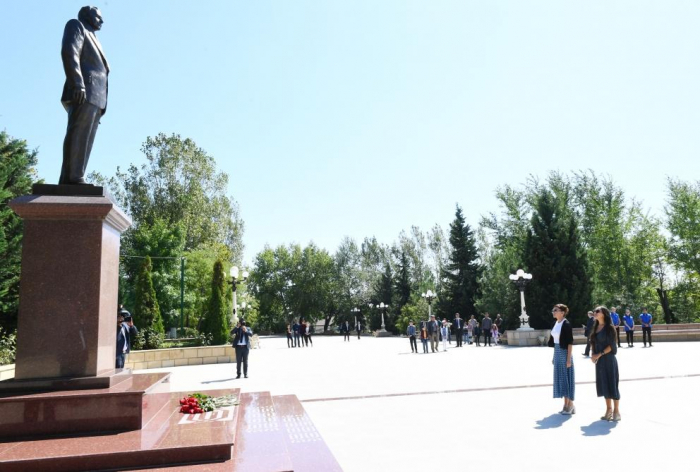 First Vice-President Mehriban Aliyeva arrives in Shamakhi district