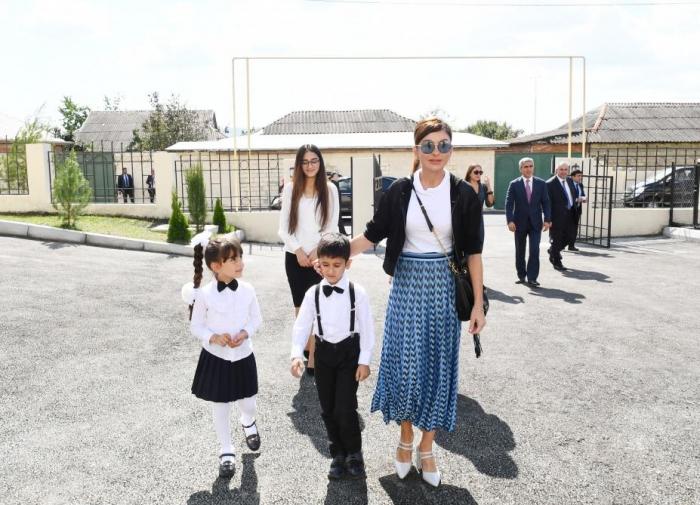 First Vice-President Mehriban Aliyeva attends opening of kindergarten in Ismayilli