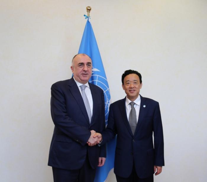 Elmar Mammadyarov se reúne con el director general de la FAO