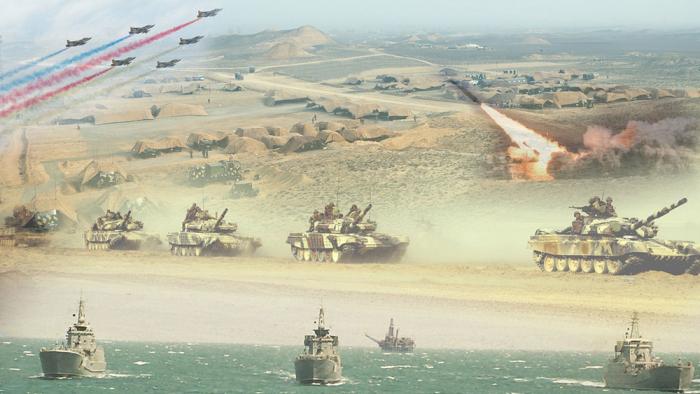 Heute begann die aserbaidschanische Armee mit groß angelegten Übungen