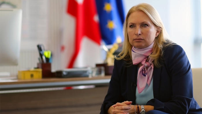 Georgische Ministerin für Wirtschaft und nachhaltige Entwicklung besucht Aserbaidschan
