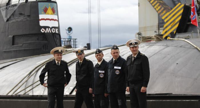 """Manöver: Russisches Atom-U-Boot """"Omsk"""" trifft mit Marschflugkörper seinen """"Gegner"""" –   Video"""