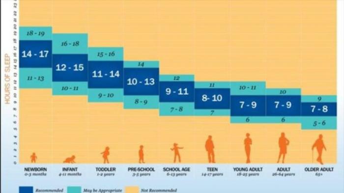 ¿Cuántas horas se debería dormir según la edad de cada uno?