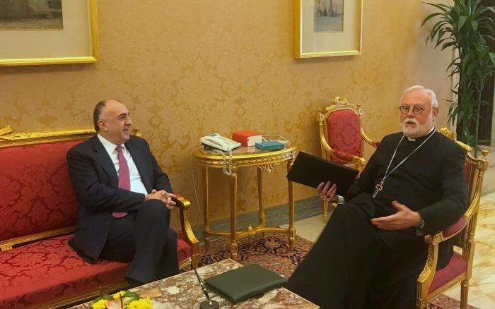 Azerbaijani FM meets Holy See's secretary in Vatican