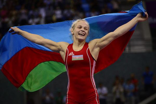 Azerbaijan's Mariya Stadnik becomes two-time world wrestling champion