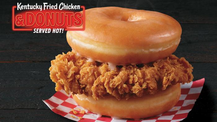 KFC lance un nouveau sandwich avec des donuts à la place du pain